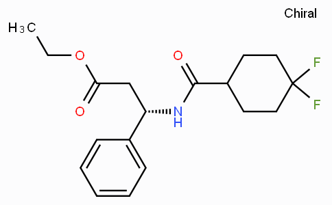 ETHYL (3S)-3-(4,4-DIFLUOROCYCLOHEXANE-1-CARBOXAMIDO)-3-PHENYLPROPANOATE