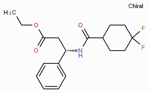 ETHYL (3S)-3-(4,4-DIFLUOROCYCLOHEXANE-1-CARBOXAMIDO)-3-PHENYLPROPANOATE