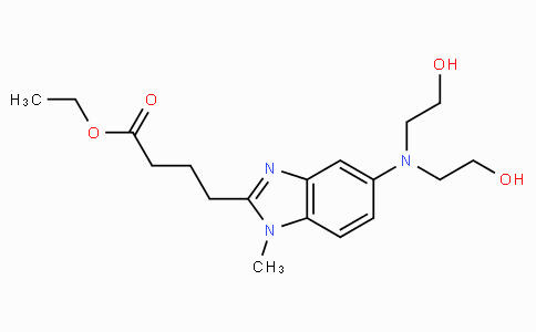 4-{5-[bis-(2-hydroxy-ethyl)-amino]-1-methyl-1H-benzoimidazol-2-yl}-butyric acid ethyl ester