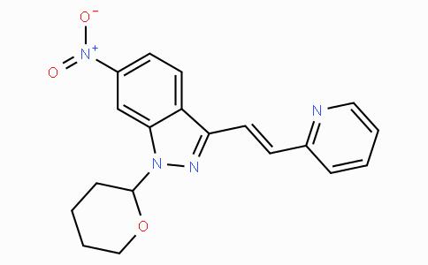 (E)-6-nitro-3-(2-(pyridin-2-yl)vinyl)-1-(tetrahydro-2H-pyran-2-yl)-1H-indazole