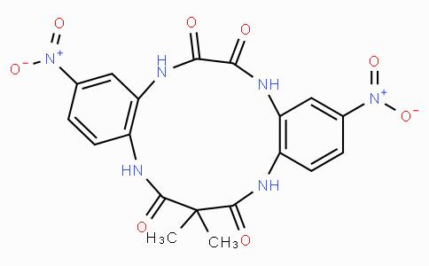 15,15-dimethyl-3,10-dinitro-5,8,13,17-tetrahydro-5,8,13,17-tetraazadibenzo[a,g]cyclotridecene-6,7,14,16-tetraone