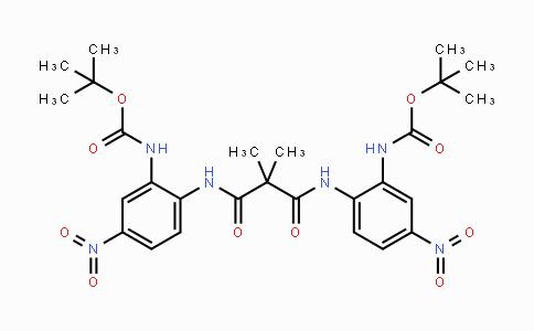 N,N'-bis-(2-carbamic acid tert-butyl ester-4-nitrophenyl)-2,2-dimethylmalonamide